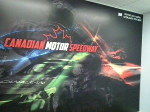 Banner for Canadian Motor Speedway Gift Shop T Shirts for Sale at Office Garrison Rd