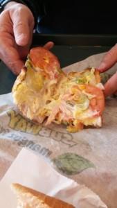 Subway Turkey Breast PIckles Tormatoes